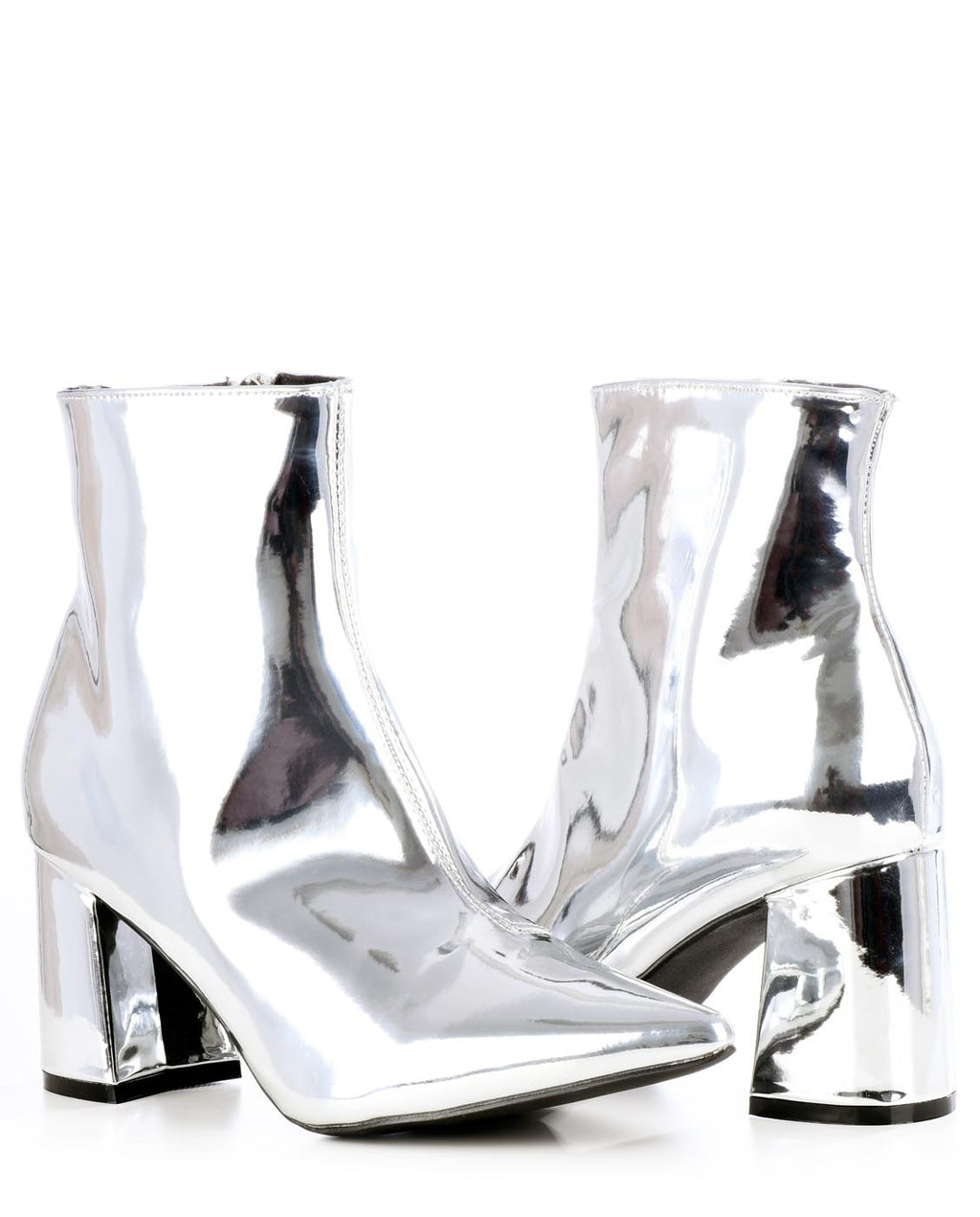 Metallic Pointed Toe Bootie - Fashion You Up