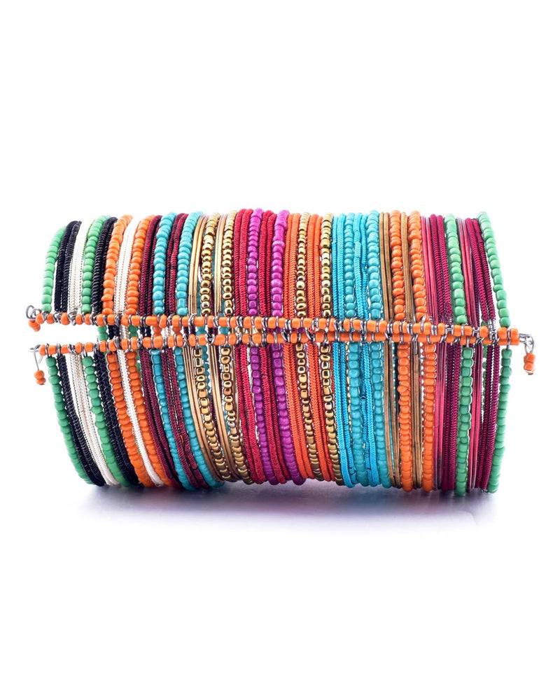 Stacked Beaded Cuff Bracelet - Fashion You Up