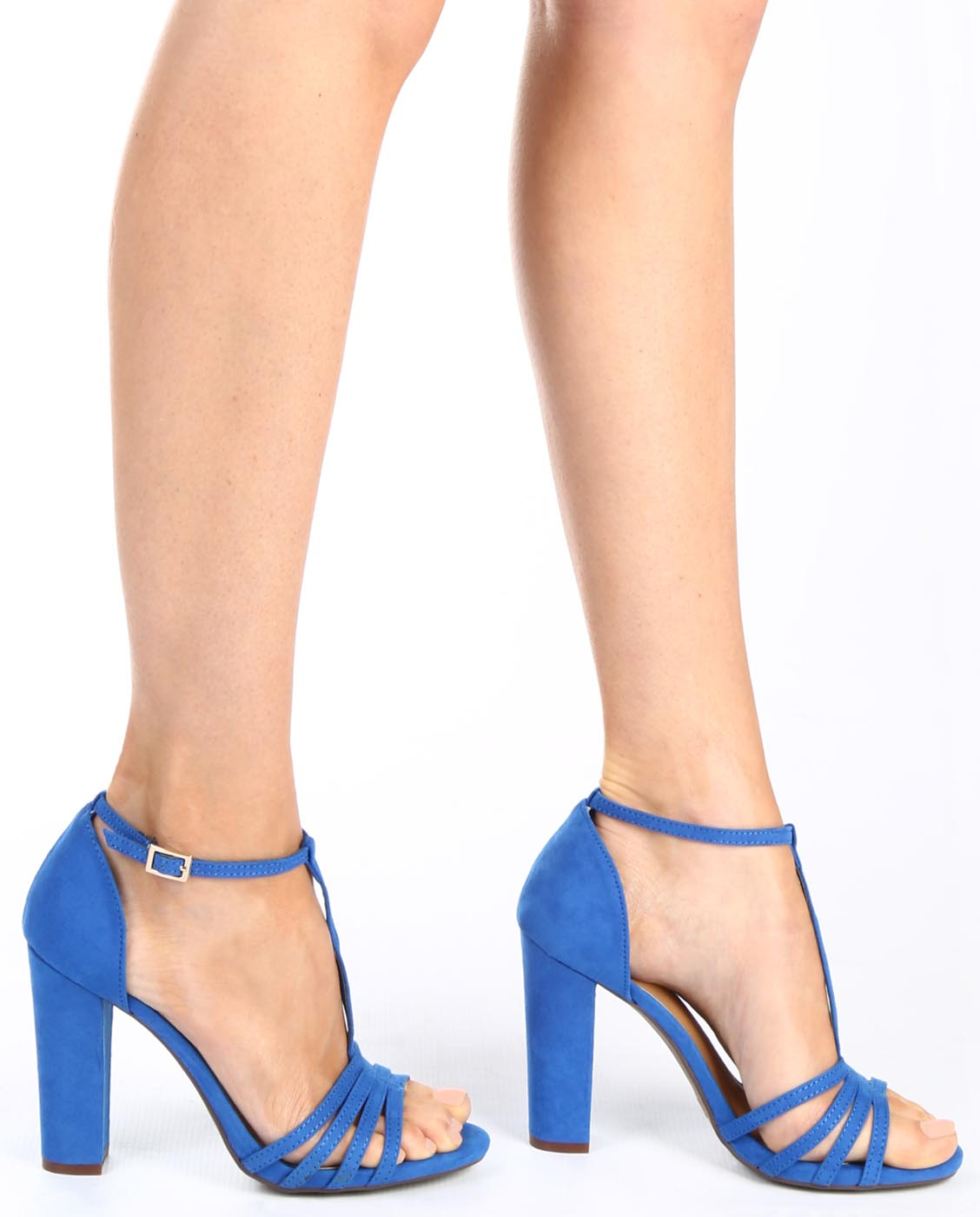 T-Strap Open Toe Heels - Fashion You Up
