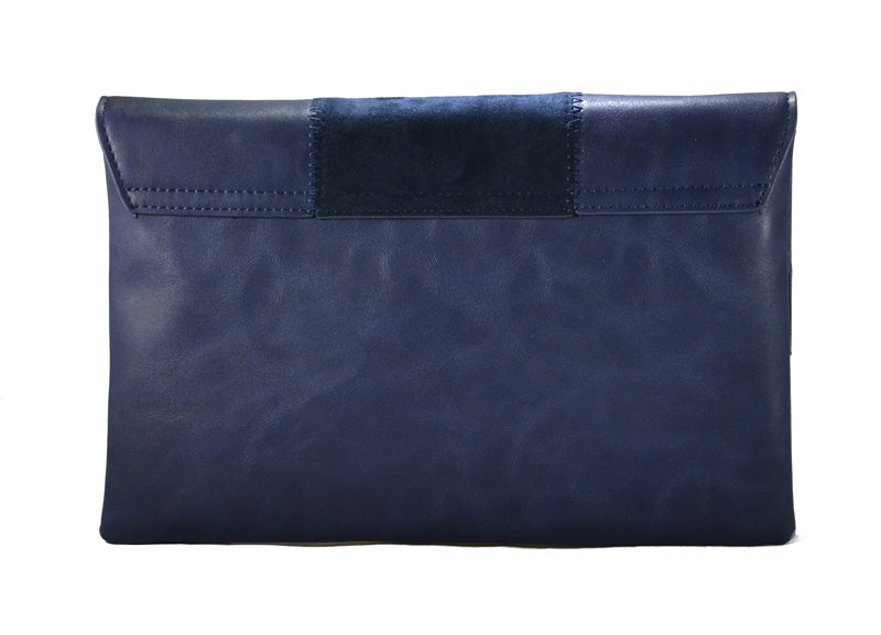 Navy Vegan Leather Crossbody Purse - Fashion You Up
