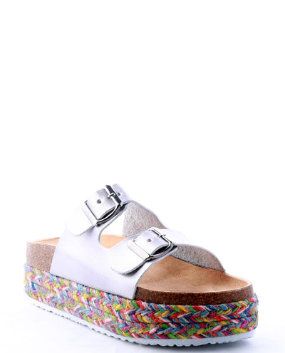 Rainbow Slip-On Platform Sandal - Fashion You Up