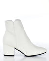 Faux Leather White Booties - Fashion You Up