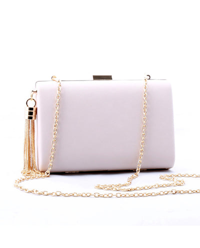 Ivory Chain Link Crossbody Bag - Fashion You Up