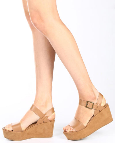 Vegan Leather Ankle Strap Flatform - Fashion You Up