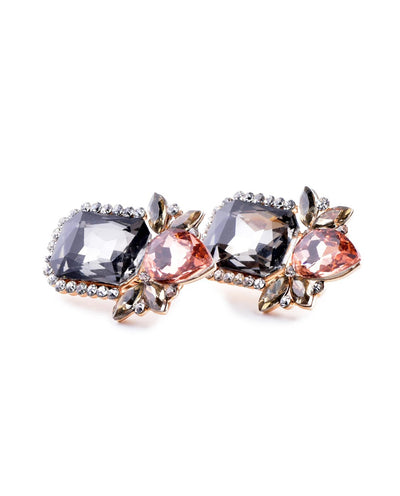 Colorful Rhinestone Stud Earrings - Fashion You Up