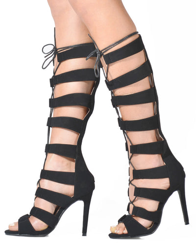 Lace Up Gladiator Heels - Fashion You Up