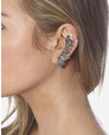 Leaf Rhinestone Cuff Earring - Fashion You Up