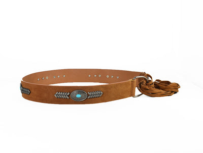 Western-inspired Faux Suede Belt - Fashion You Up