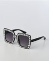 Oversized Square Sunglasses With Embellishments - Fashion You Up