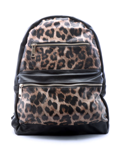 Leopard Print Backpack - Fashion You Up