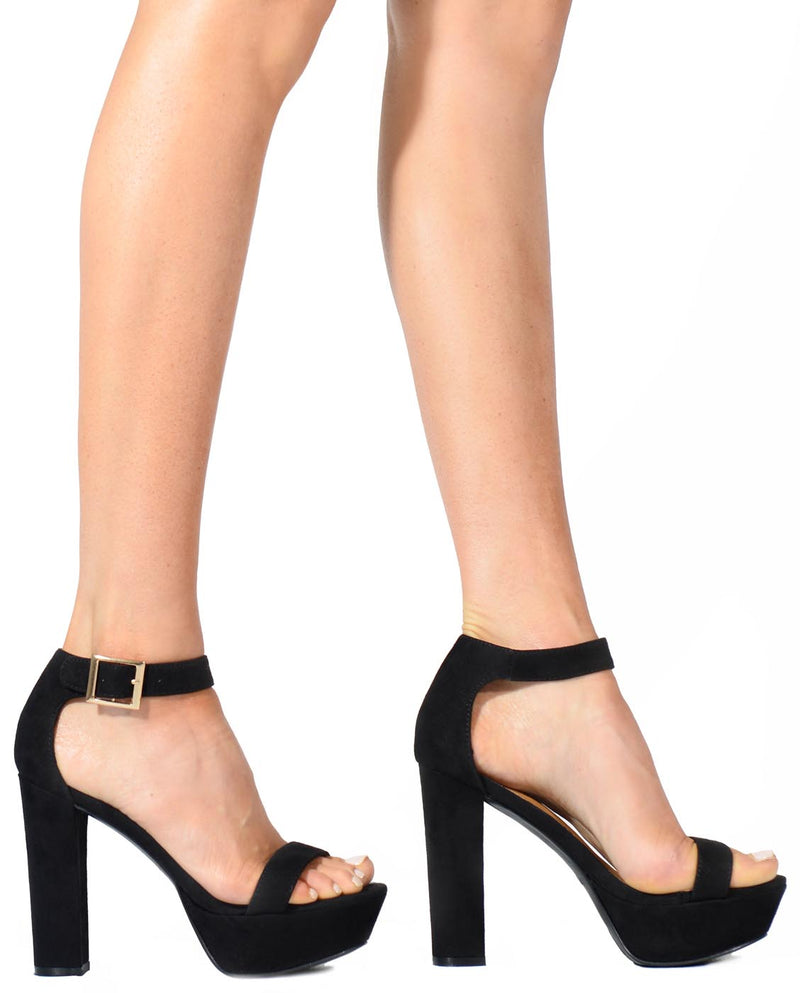 Platform Faux Suede Heels - Fashion You Up