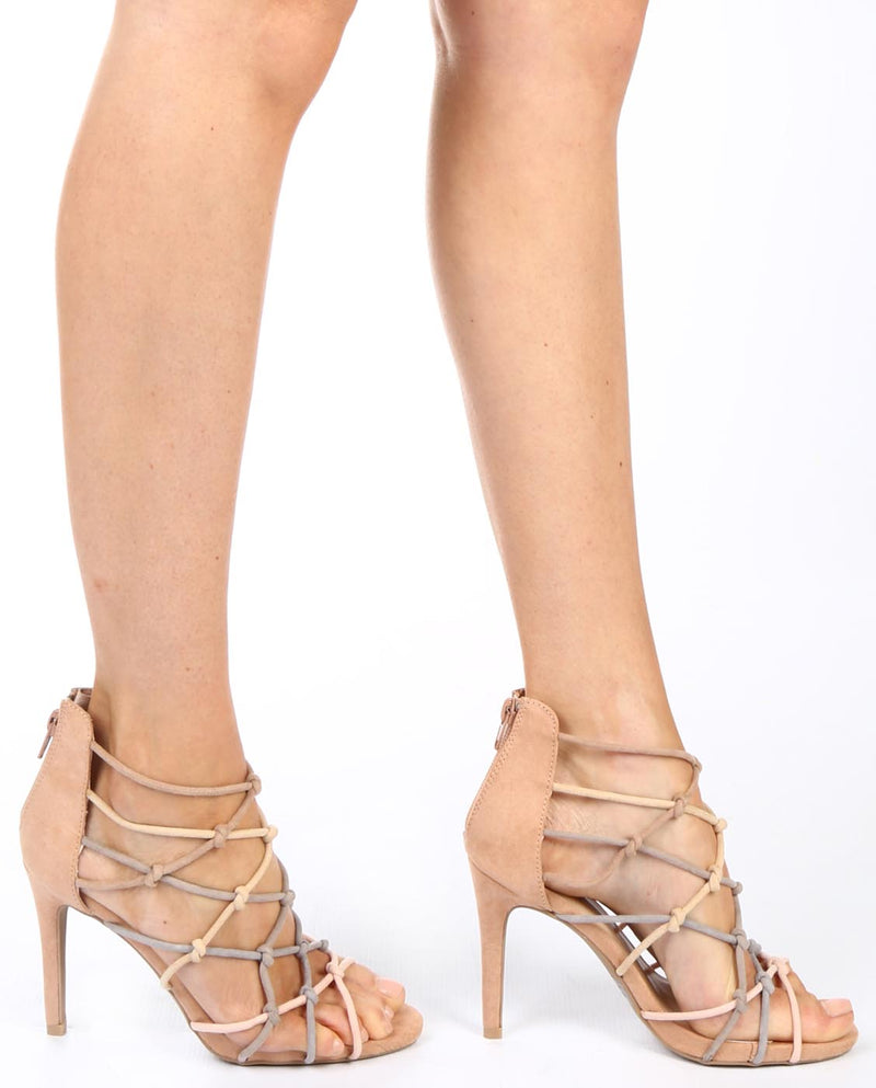Strappy Rope Stiletto Heels - Fashion You Up