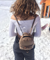 Vegan Leather Mini Backpack - Fashion You Up
