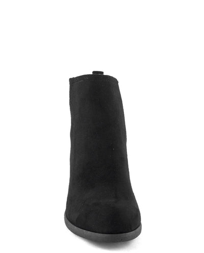 Faux Suede Cutout Ankle Booties - Fashion You Up