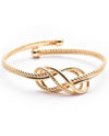 Knotted Gold Cuff Bracelet - Fashion You Up