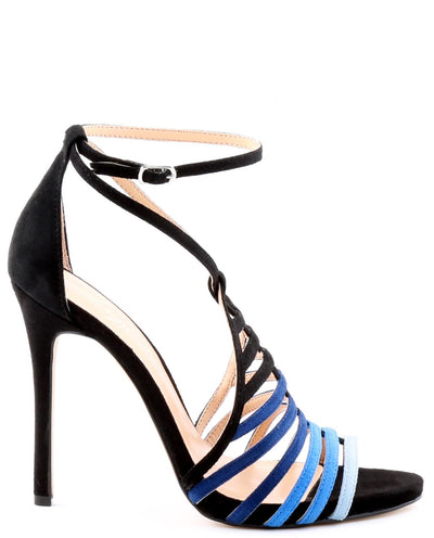 Gradient Blue Strappy Heels - Fashion You Up