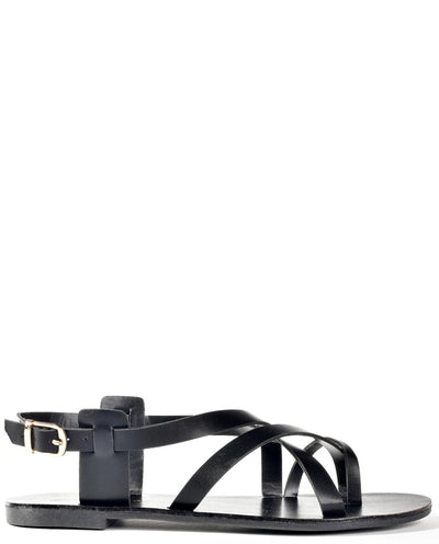 Vegan Leather Criss Cross Sandals - Fashion You Up