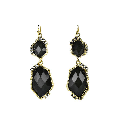 Abstract Gem And Rhinestone Drop Earrings - Fashion You Up