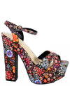 Floral Platform Peep Toe Heels - Fashion You Up
