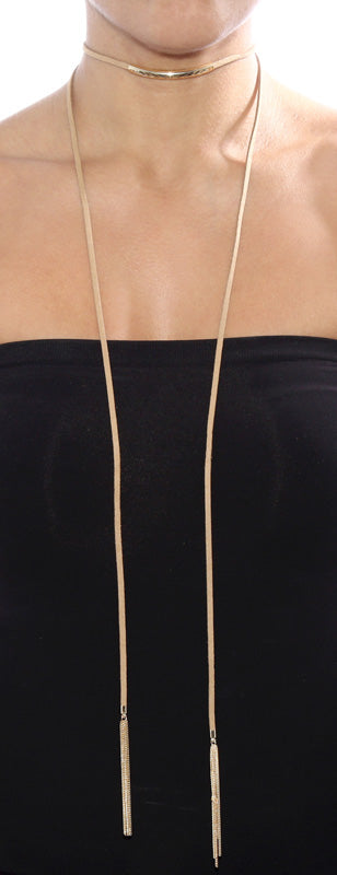Wrap Lariat Leather Wrap Necklace with Tassels - Fashion You Up