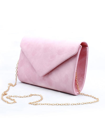 Faux Suede Envelope Crossbody Bag - Fashion You Up