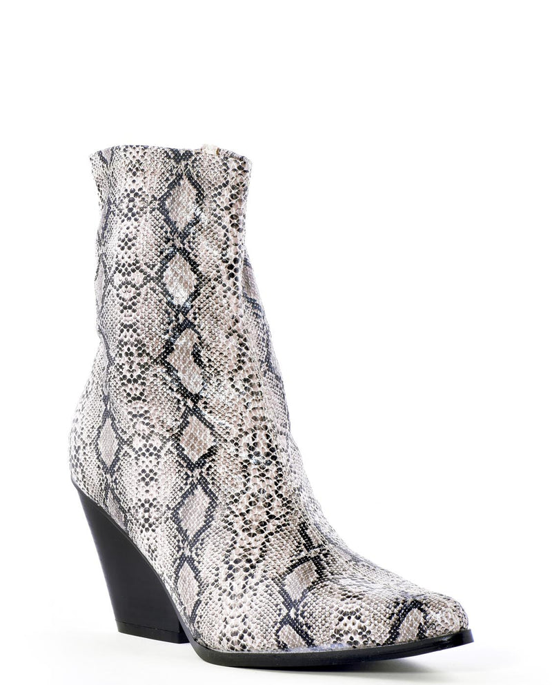 Modern Cowgirl Faux Snake Skin Ankle Boots - Fashion You Up