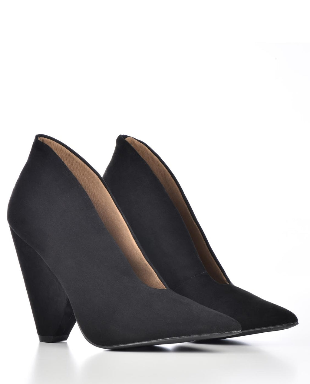 Pointed Toe Cone Heel Pump Bootie - Fashion You Up