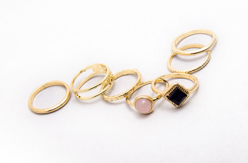 Stackable Jewel Ring Set - Fashion You Up