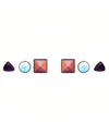 Mixed Stone Stud Earrings - Fashion You Up