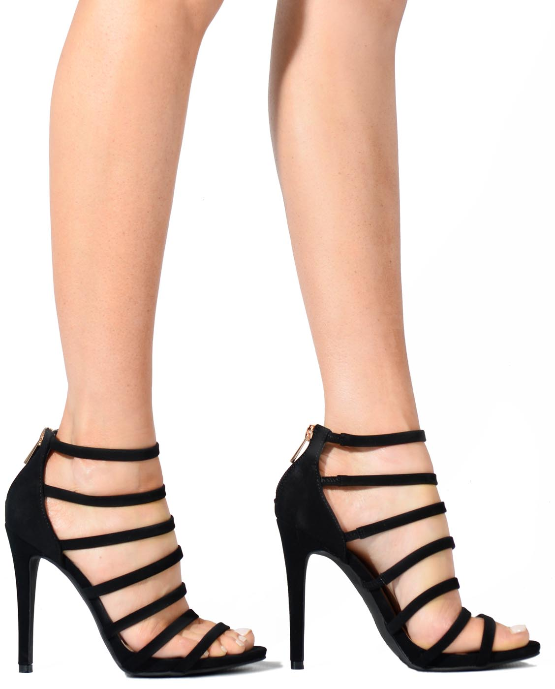 d1f9ade9027 Strappy Faux Suede Heels