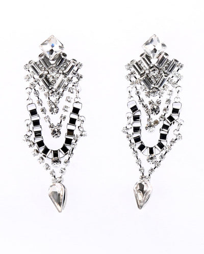 Geometric Rhinestone Earrings - Fashion You Up
