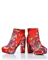 Red Floral Bootie - Fashion You Up
