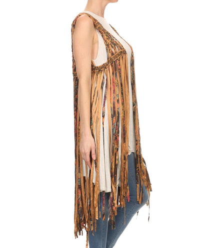 Macrame Fringe Maxi Vest - Fashion You Up