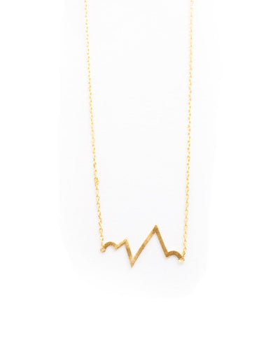 Gold Heartbeat Necklace - Fashion You Up