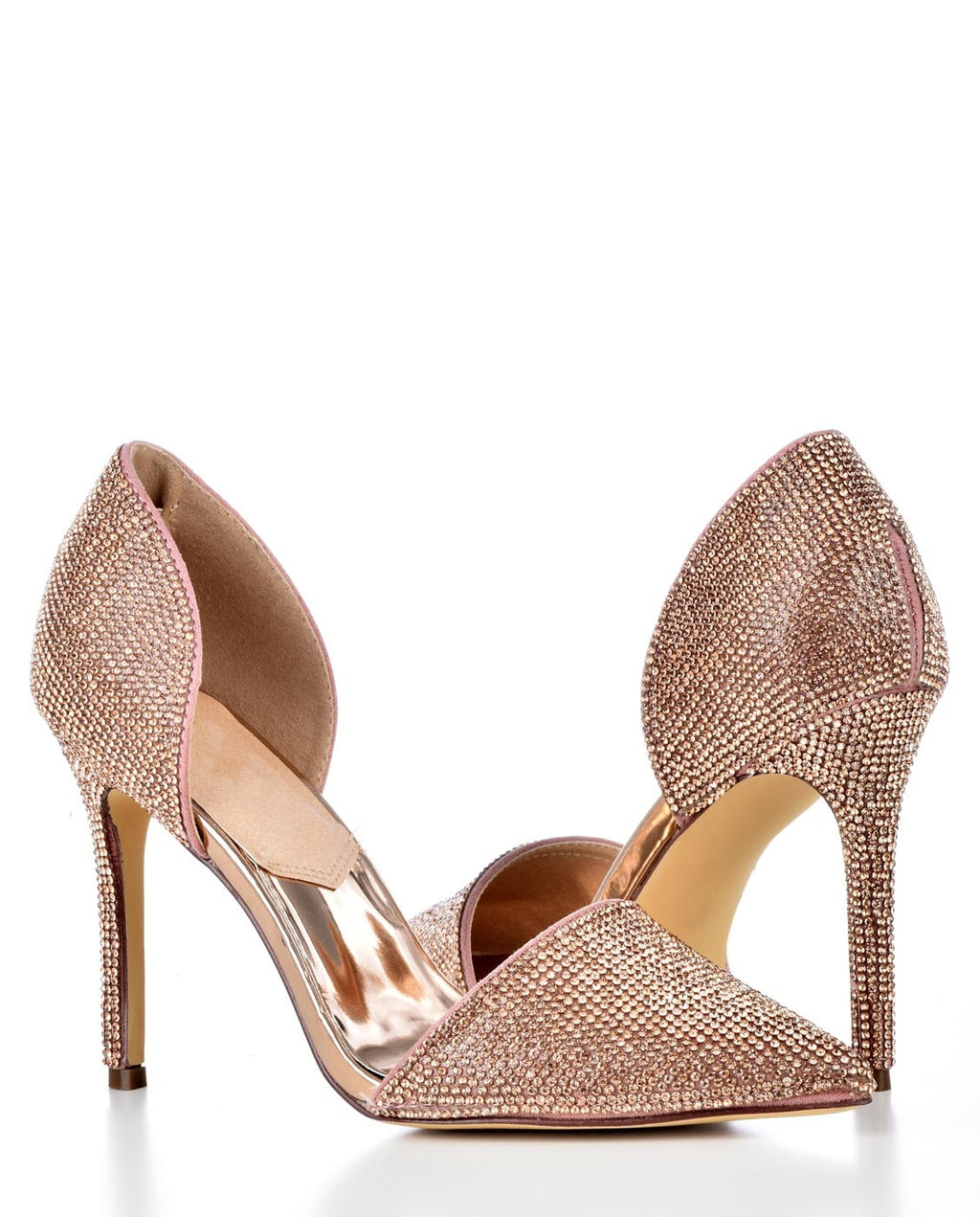 Point Toe D'orsay Pump with Rhinestones - Fashion You Up
