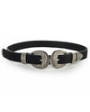 Western Double Buckle Faux Leather Belt - Fashion You Up