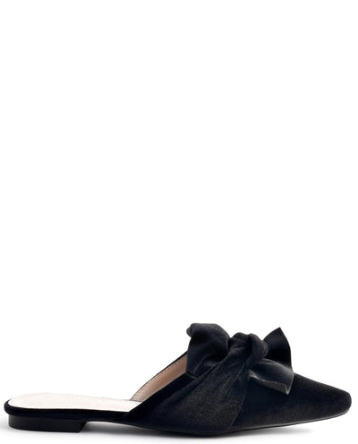 Pointed Toe Flat Slip-on With A Bow - Fashion You Up