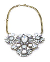 Chunky Rhinestone Statement Necklace - Fashion You Up