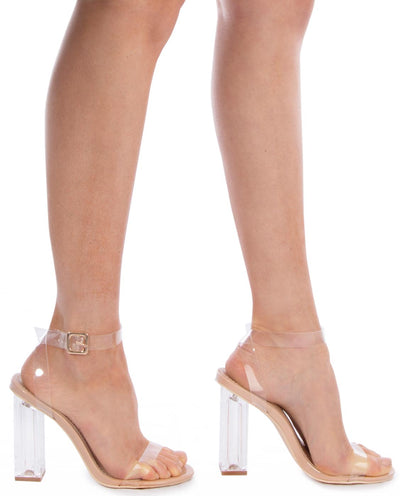 Acrylic Open Toe Heels - Fashion You Up