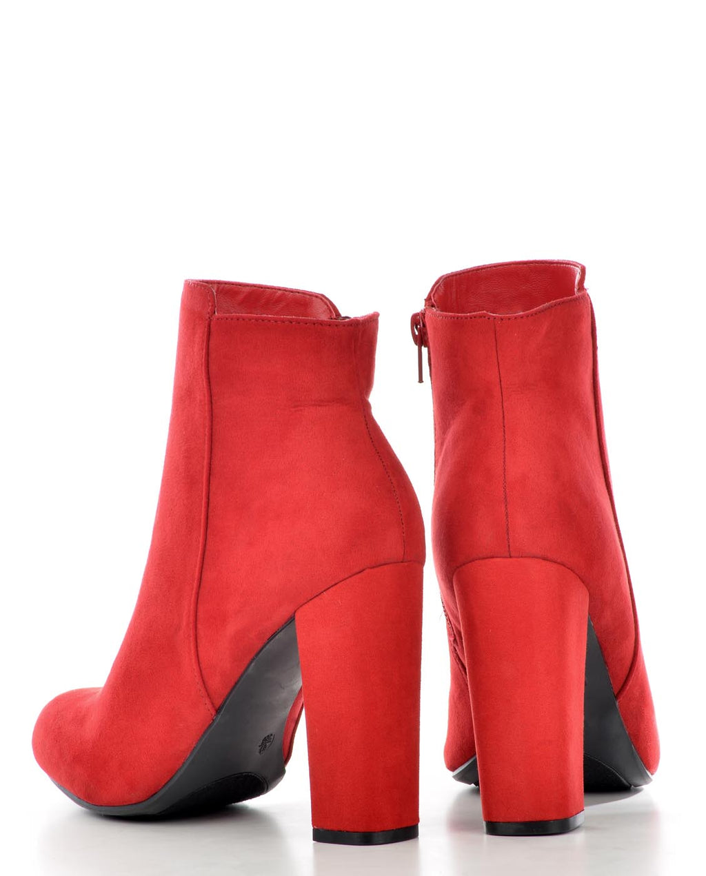 Red Faux Suede Bootie - Fashion You Up