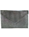 Metallic Textured Faux Leather Clutch - Fashion You Up