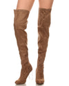 Over The Knee Clear Faux Suede Boots - Fashion You Up