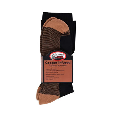 THE RAILROAD COPPER INFUSED CREW SOCK