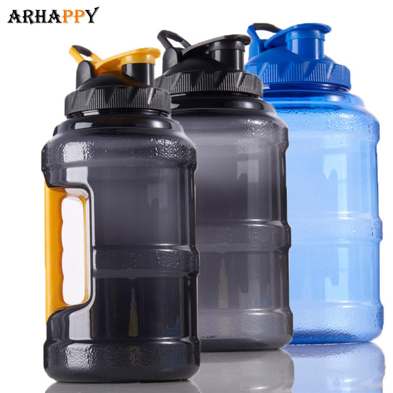 2.5L Wide Mouth Plastic Sport Water Bottle Outdoor Sports Large Capacity Water Bottle Space BPA Free Drinking Bottle Water