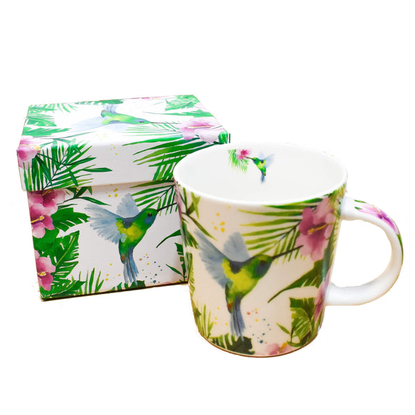 Taza Tropical Humming Bird - Ironica Tea Shop