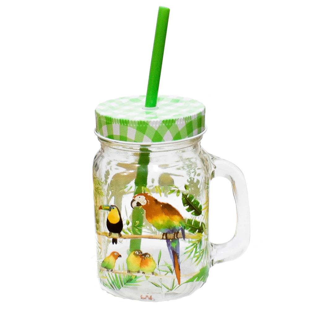 Tumbler Tropical Birds - Ironica Tea Shop