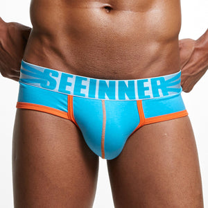Men's Seeinner low waist soft cotton boxer briefs