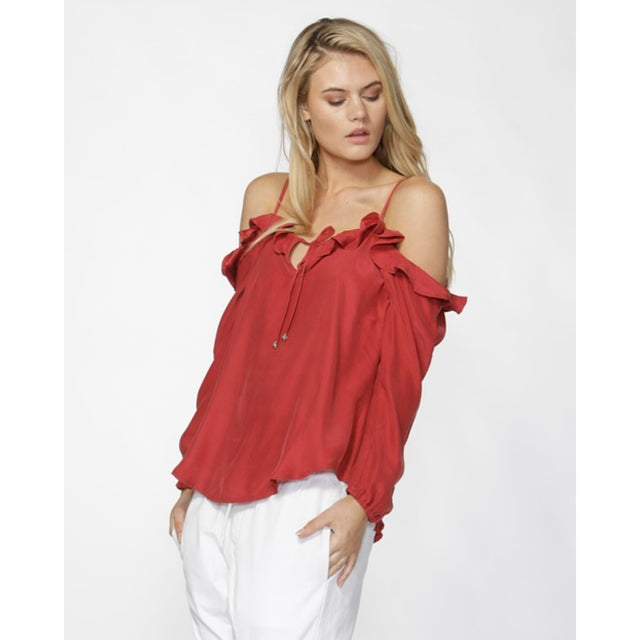 Darinna Cold Shoulder Top