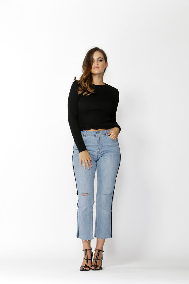 Hunter Velvet Stripe Jean