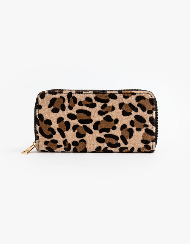 Leopard Fur Wallet